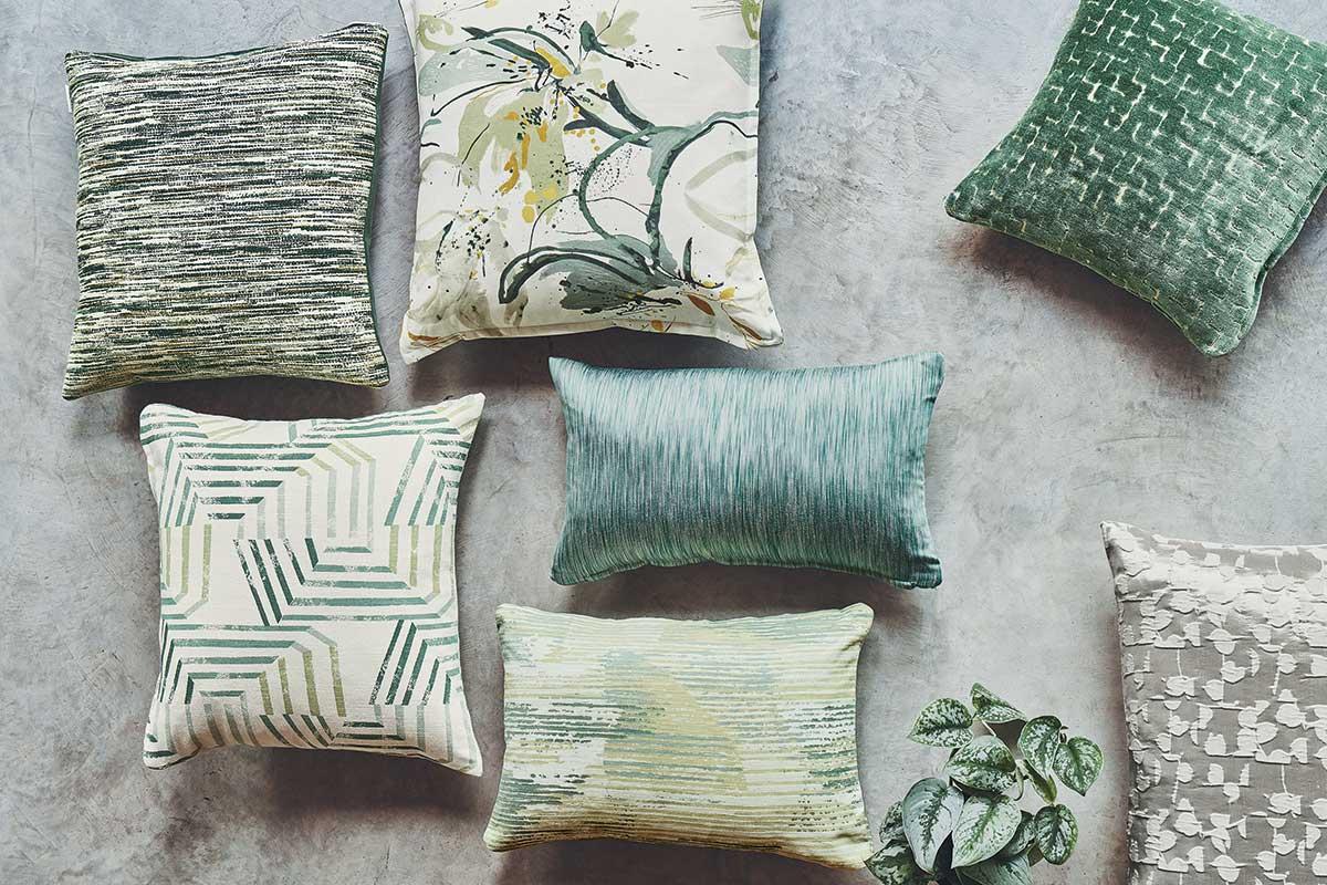 complementi d'arredo tessuti cuscini