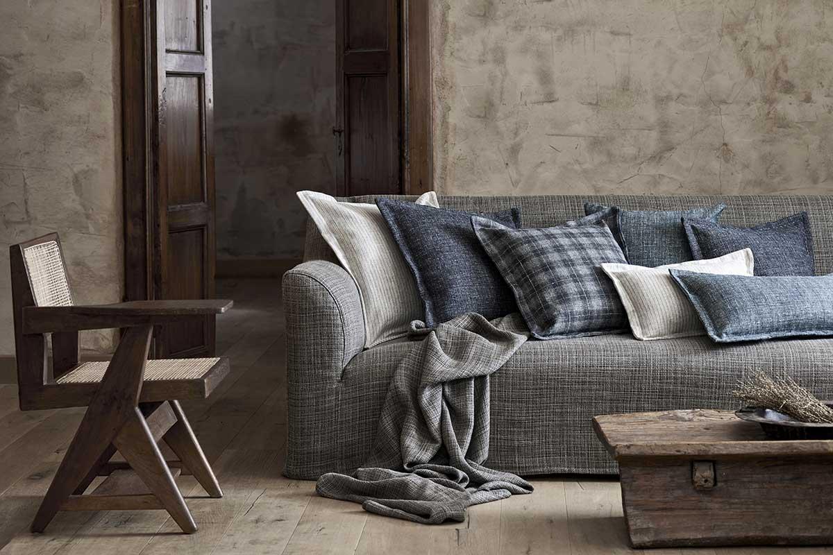 complementi d'arredo tessuti divani