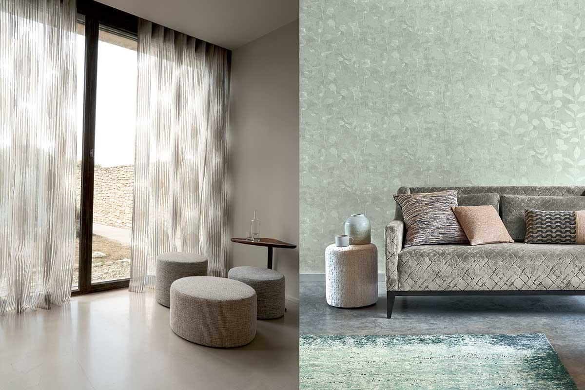 complementi d'arredo tessuti pouf e divano